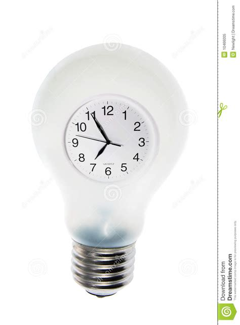 in light clock clock in light bulb royalty free stock photo image 10466005