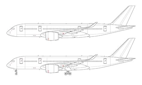 line drawing templates airliner templates norebbo