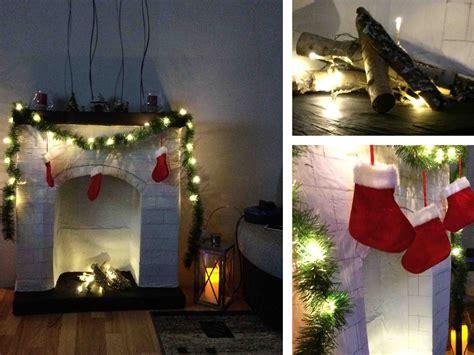 amerikanischer kamin weihnachten diy kamin aus pappe selbermachen kartons upcyling