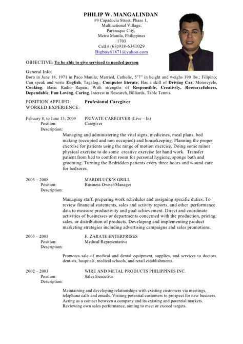 Resume Template Philippines sle resume doctor philippines resume ixiplay free
