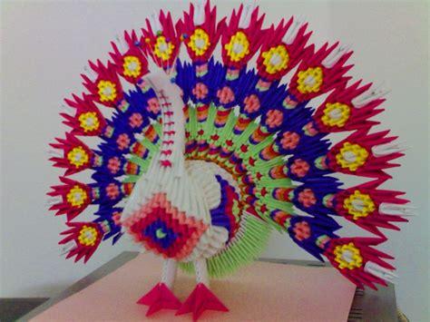 3d Origami Peacock - peacock jpg album mohammad nofal 3d origami