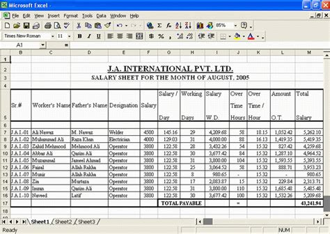 salary sheets excel free s download free apps
