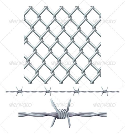 fence tattoo seamless tiling fence and barbed wire graphicriver