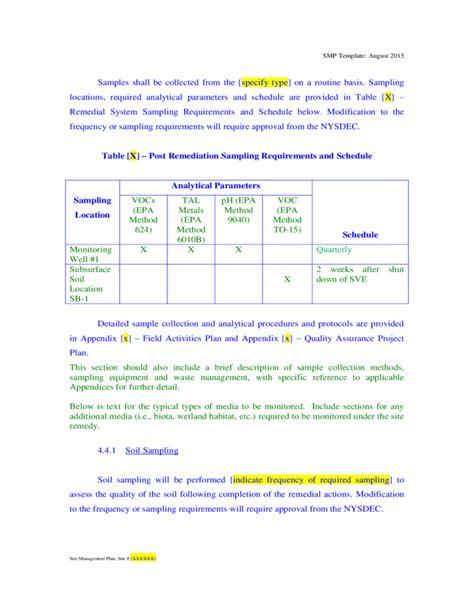 soil management plan template soil management plan template gallery template design ideas