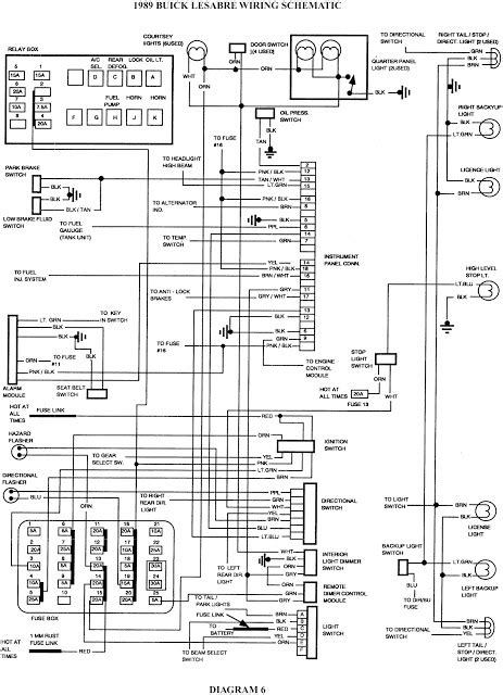 wiring diagram for 1997 buick lesabre wiring diagrams