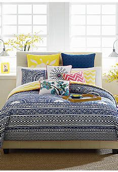 Cynthia Rowley Bedding Collection by Cynthia Cynthia Rowley Lattice Reversible Bedding