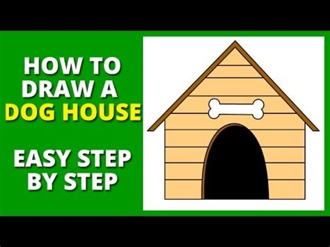 how to draw a house step by step arcmel com how to draw a dog house step by step youtube