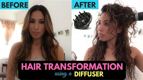 Hair Dryer Diffuser Before And After diffuser on hair transformation to curly