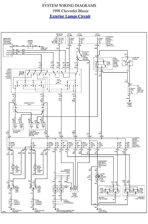 Exterior Lamp Circuit Diagram Of 1998 Chevrolet Blazer