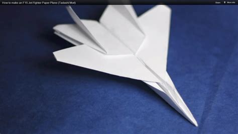 Aeroplane With Paper - how to make a model airplane with paper