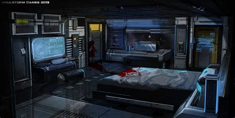 spaceship bedroom potemkin captain s quarters by ionen deviantart com on