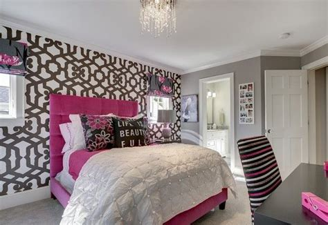 wallpaper for teenage bedrooms teen girl bedroom decorating ideas use wallpaper on only