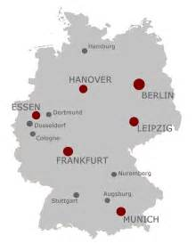 map of germany and cities exhibiting in germany trade show pr