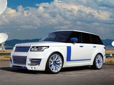 range rover blue and white white range rover with blue details land rover