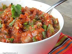 home made salsa chunky or restaurant style salsa