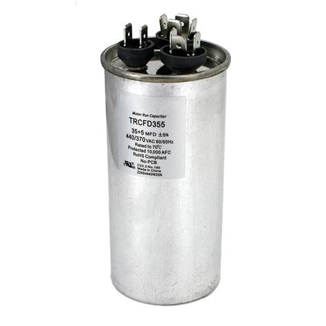 run capacitor y4609 35 5 mfd capacitor 28 images air conditioning hvac oval dual motor run capacitor 35 5 mfd