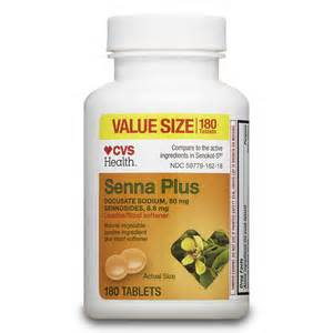 cvs health senna plus laxative stool softener tablets