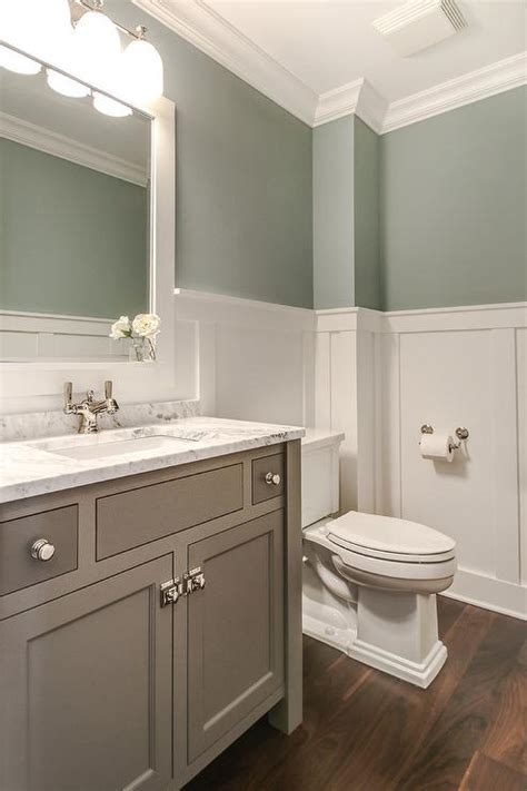 bathroom wainscoting height tranquil bathroom design transitional bathroom