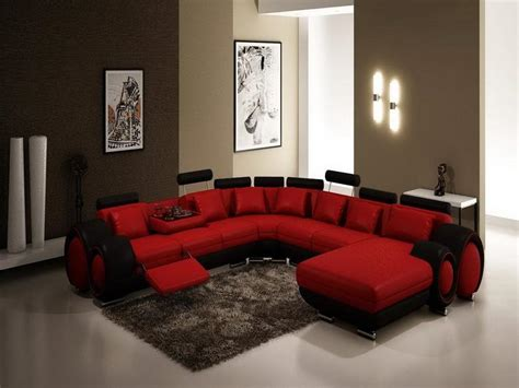 red and black living room ideas living room modern red and black sectional sofa black