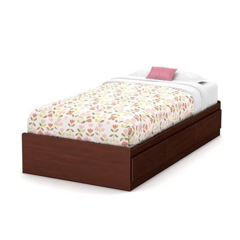 bed in summer south shore summer breeze twin mates bed in royal cherry