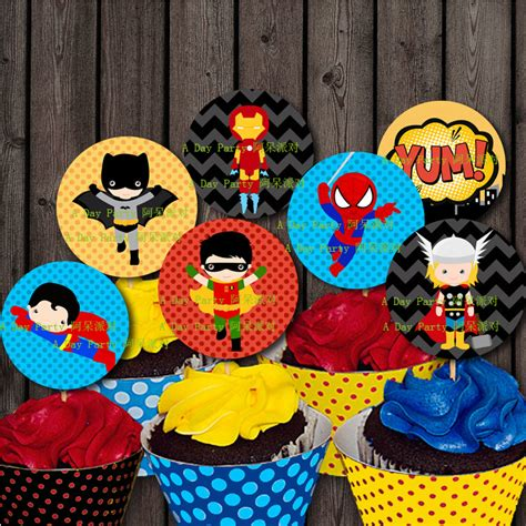 Cupcakes Setwedding And Birthday superman cupcake promotion shop for promotional superman