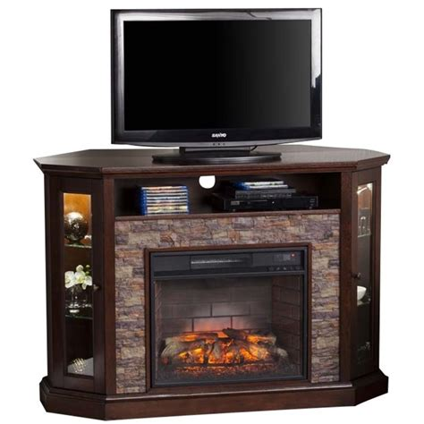 infrared l with stand pemberly row corner infrared fireplace tv stand in