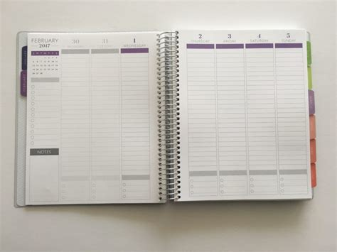 printable planner review plum paper planners haul review better than the erin