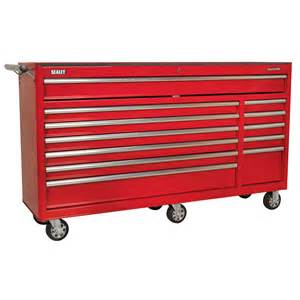 sealey heavy duty rollcab 12 drawer with bearing