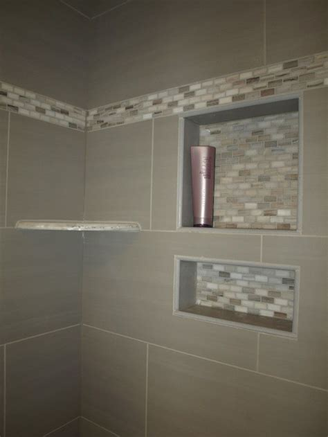 bathroom shower niche ideas the recessed shelves are exactly what i want with the