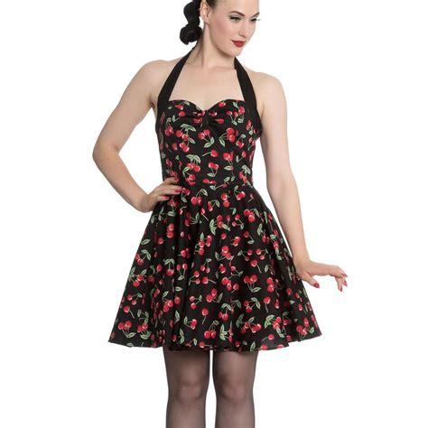Cherry Dress hell bunny black 50s rockabilly retro mini dress cherry