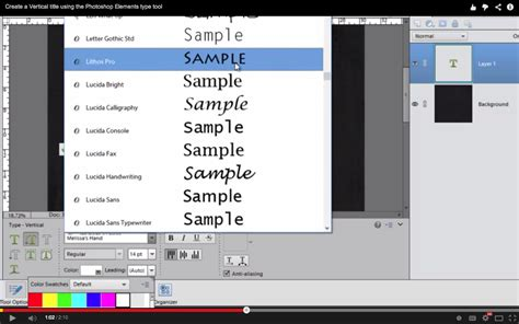 reset text tool in photoshop create a vertical title using the photoshop elements type