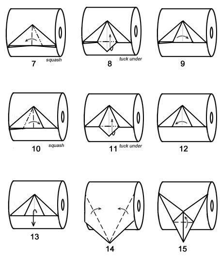 Origami Toilet - toilet paper origami orgami toilets trees