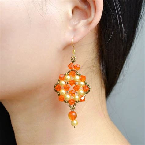 Handmade Beaded Earrings Designs - fantastic handmade beaded dangle earrings designs for