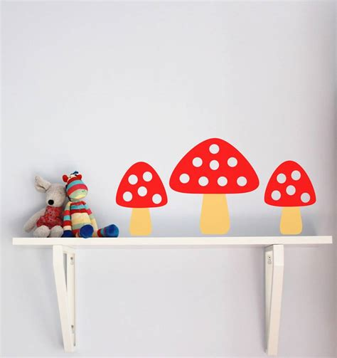 set of five toadstool wall stickers by chip notonthehighstreet