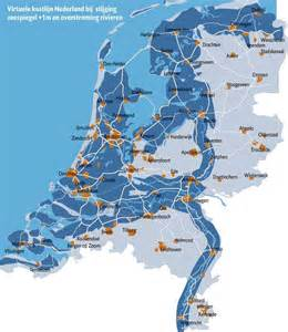 netherlands map below sea level the netherlands if sea levels rise 1m 813x937 mapporn