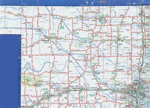 road map of oklahoma and odot 2007 highway map northwest oklahoma