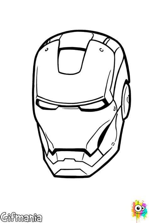 iron man helmet coloring page