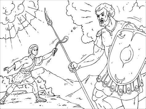 dibujos para colorear de david y goliat colorear david y goliat dibujos de antiguo testamento