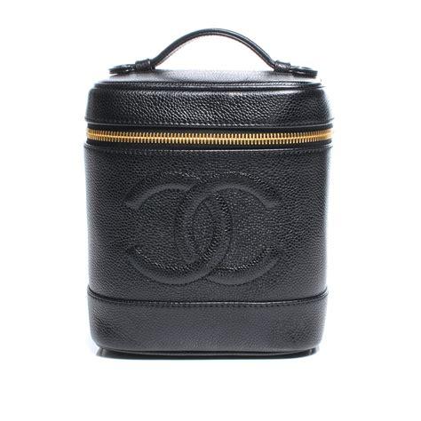 Chanel Vanity Bag by Chanel Caviar Cosmetic Vanity Bag Black 44985