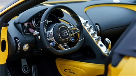yellow bugatti chiron 2018 bugatti chiron yellow and black interior wallpaper