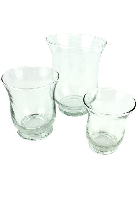 clear glass hurricane candle holder with scented church