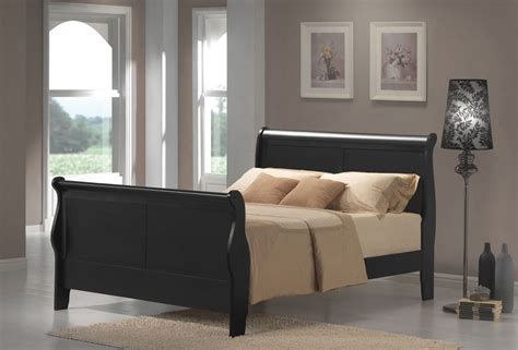 sleigh style bed frame size louis philippe black sleigh style bed frame