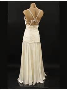 30 s old hollywood style ivory satin wedding dress evening gown blue velvet vintage
