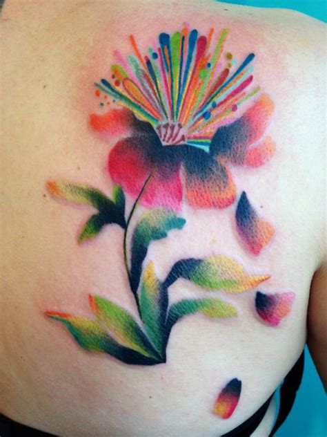 watercolor tattoo in san diego watercolor flower sargent at buju san