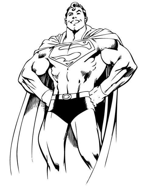 superman from dc comics coloring page h m coloring pages