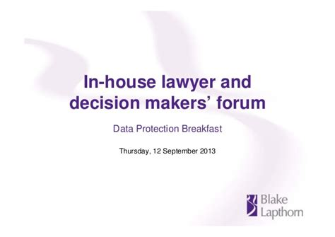 in house lawyer blake lapthorn s in house lawyer and decision maker s forum 12 sept