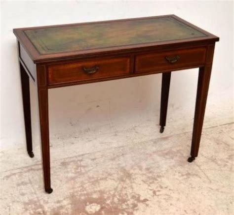 Small Antique Writing Desk Small Antique Edwardian Inlaid Mahogany Writing Table Desk 242682 Sellingantiques Co Uk