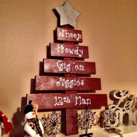 handmade wooden texas a m inspired aggie christmas tree
