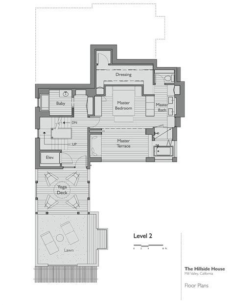 hillside floor plans floor plan level 2 hillside house california by sb