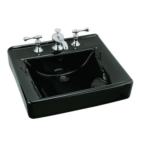 black drop in bathroom sink shop kohler soho black drop in rectangular bathroom sink